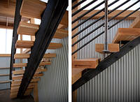 Обшивка лестниц массивом (дуба, ясеня) на заказ, Одесса