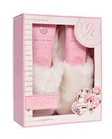 Grace Cole Набор подарочный Finest Relaxation (скраб для ног+лосьон для ног+тапочки) с ароматом розы