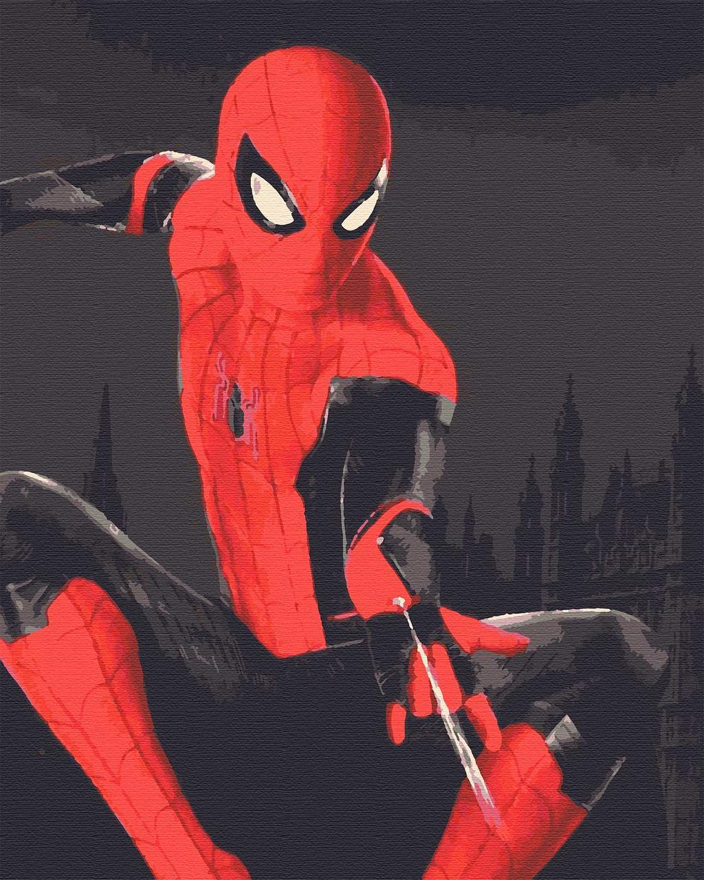 Картина по номерах кинофільми кіногерої 40х50 Людина Павук
