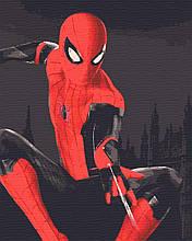 Картина по номерам кинофильмы киногерои 40х50 Человек Паук