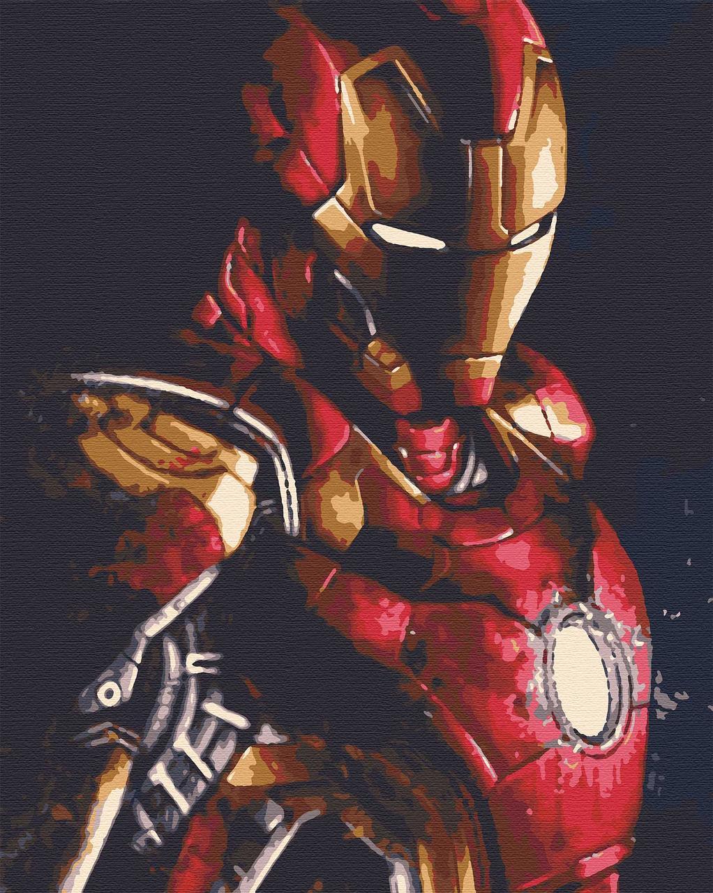 Картина по номерам герои кинофильмов 40х50 Железный Человек