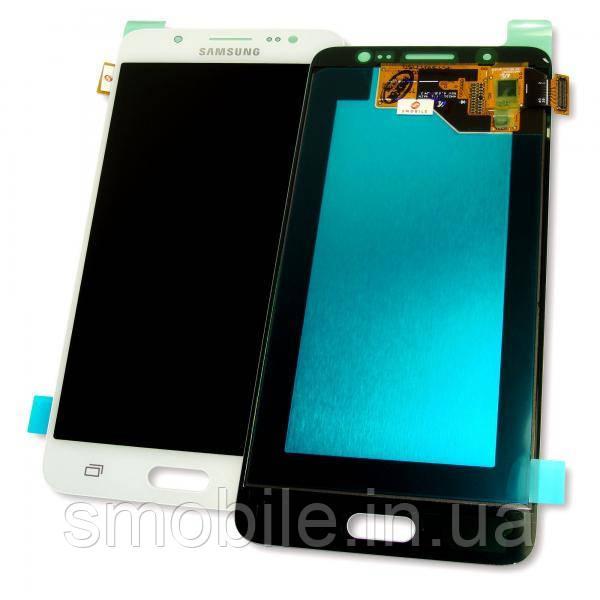 Дисплей Samsung J510F J510G Galaxy J5 2016 с сенсором, белый GH97-19466C (оригинал 100%)