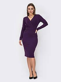 Плаття облягаючого силуету з креп-дайвінгу колір фіолетовий Розміри 44,46,48