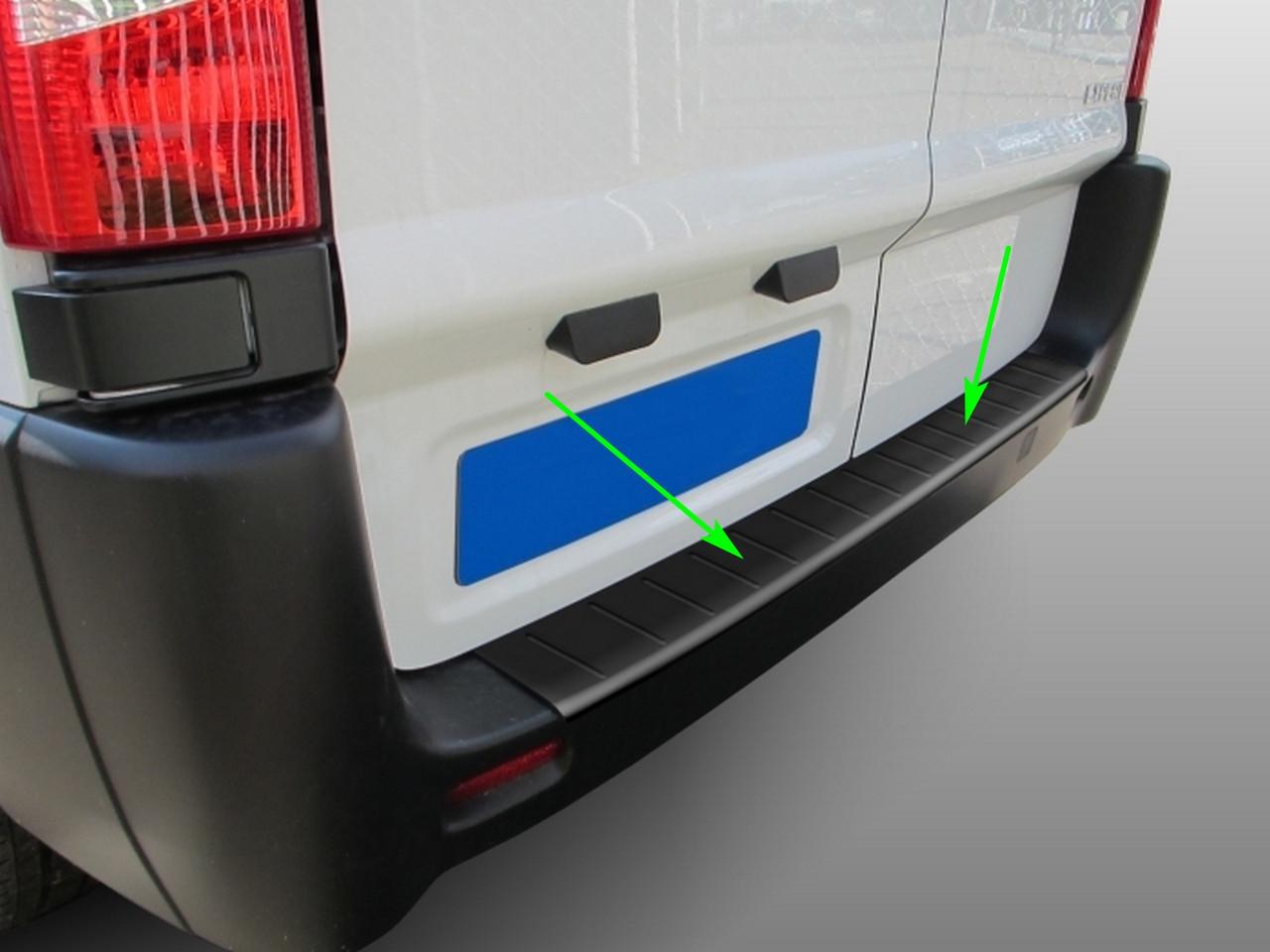 Fiat Scudo II 2007-2016 пластикова захисна накладка заднього бампера, фото 2