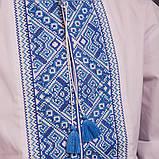 Подростковая вышиванка с синей вышивокой, фото 3
