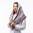 Кашемірова хустка з принтом 90х90см, фото 8