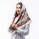 Кашемірова хустка з принтом 90х90см, фото 9