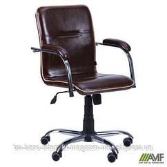 Кресло Самба-RC Хром Софт Мадрас дарк браун с кантом