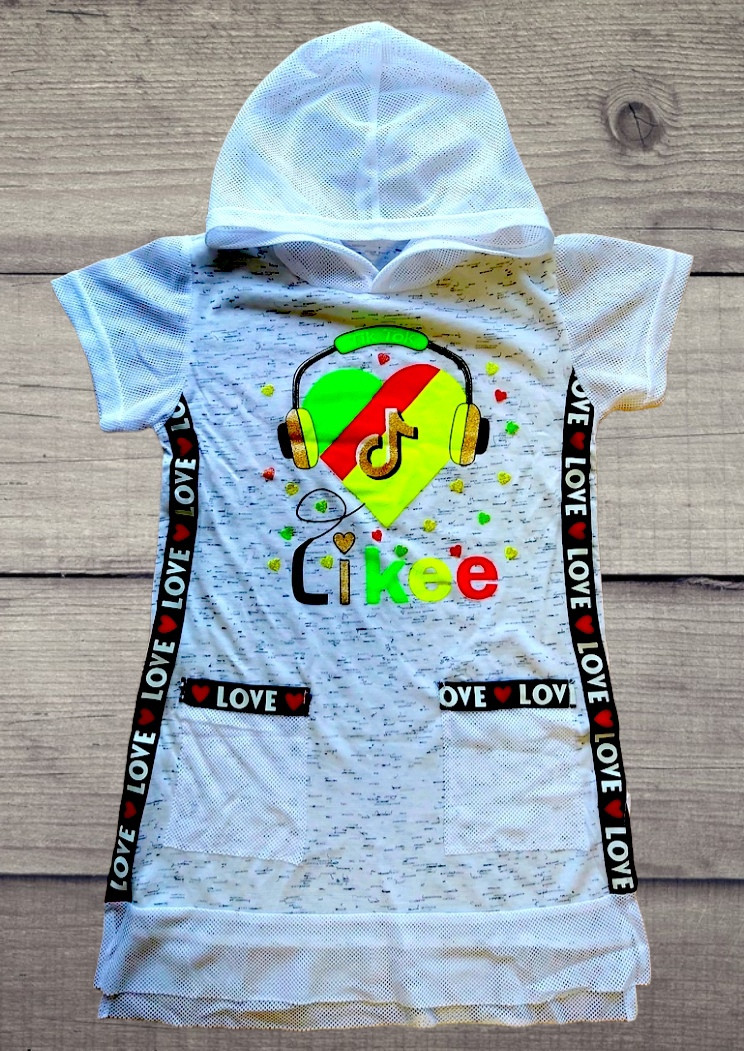 Платье-туника на девочку Likee Tik Tok размеры 30
