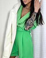 Жіночий стильний комбінезон шортами з коротким рукавом, фото 1