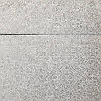 Обои метровые виниловые на флизелине Marburg Villa Lombardi вензеля завитки восточный рисунок серый с серебром, фото 1