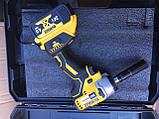 Гайковерт аккумуляторный ударный безщеточный DeWalt (24V/4А) два акб в кейсе., фото 3