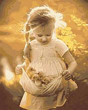 Картина по номерам дети 40х50 Сонечка