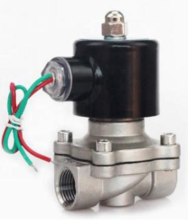 """Електромагнітний клапан 1/2"""" 12В нормально-закритий з нержавіючої сталі"""