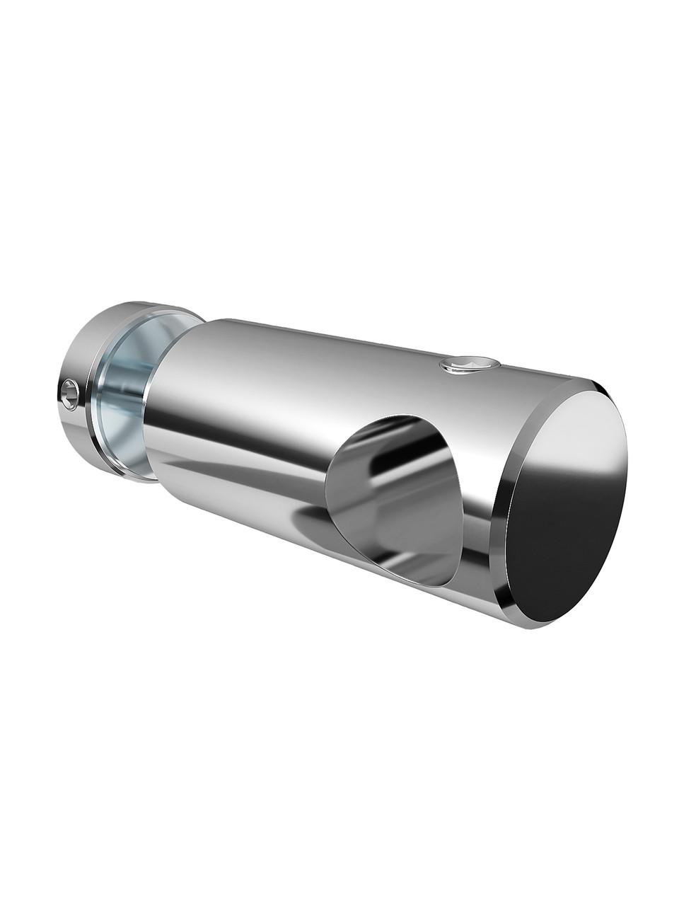 ODF-09-12-02 Т-образний з'єднувач штанги 16 мм до скла наскрізне, полірований х., для душової перегородки