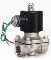 """Електромагнітний клапан 1/2"""" 220В нормально-закритий з нержавіючої сталі"""