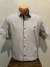 Мужская рубашка с коротким рукавом М,2XL
