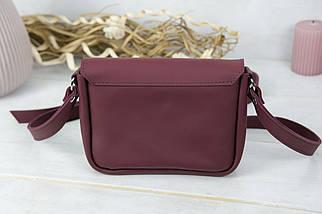 Жіноча шкіряна сумка Лілу, натуральна шкіра Grand, колір Бордо, фото 3