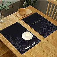Серветки-підкладки під тарілку на стіл з квітами 30х45см