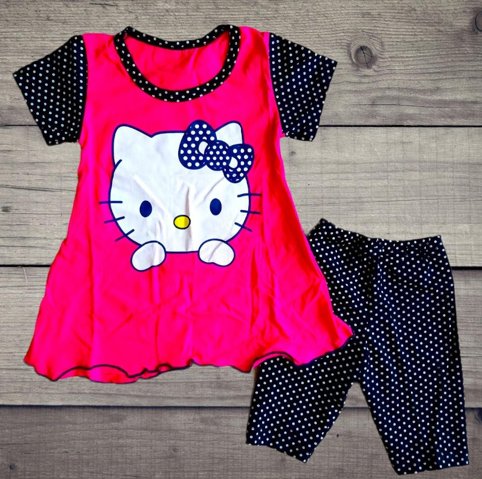 Дитячий костюм футболка і шорти Кітті
