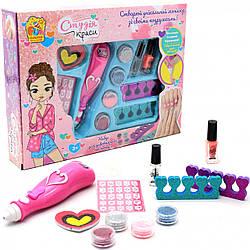 Набор для маникюра детский FUN GAME «Студия красоты» детская косметика(лак, дозатор декора)95103