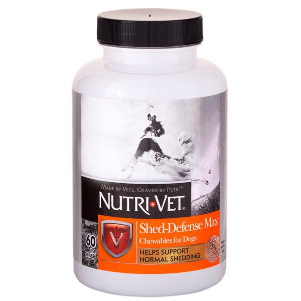Nutri-Vet Shed-Defense Max ВСЕРЕДИНІ-ВЕТ ЗАХИСТ ШЕРСТІ вітамінний комплекс для вовни собак з Омега-3, Омега-6