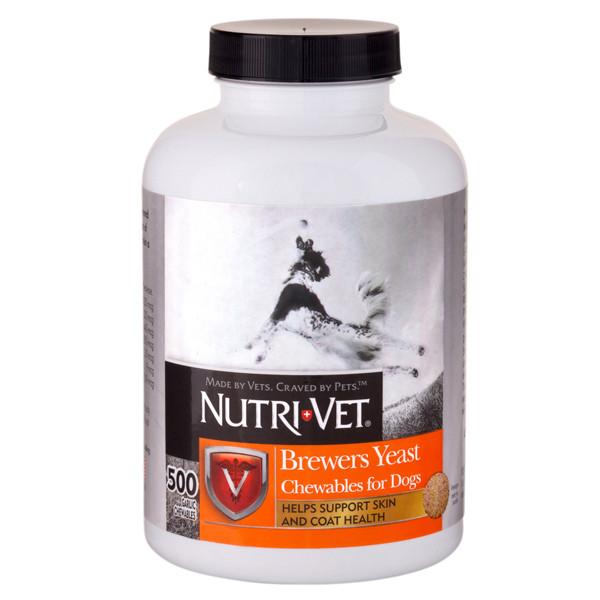 Nutri-Vet Brewers Yeast НУТРИ-ВЕТ БРЕВЕРС ЭСТ витаминный комплекс для шерсти собак, жевательные таблетки