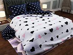 Постельное белье двуспальное на резинке 180*220 хлопок (17208) TM KRISPOL Украина