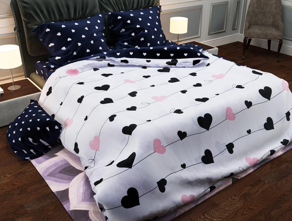 Комплект постельного белья евро на резинке 200*220 хлопок (17220) TM KRISPOL Украина