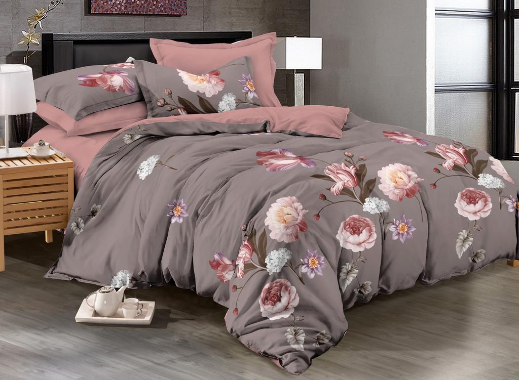 Комплект постельного белья евро на резинке 200*220 хлопок (17225) TM KRISPOL Украина