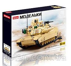 Конструктор  Модельки: Боевой танк M1A2 Абрамс 781 деталей, фигурки Sluban  M38-B0892