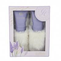 Grace Cole Набор подарочный Finest Relaxation (скраб для ног+лосьон для ног+тапочки) с ароматом лаванды