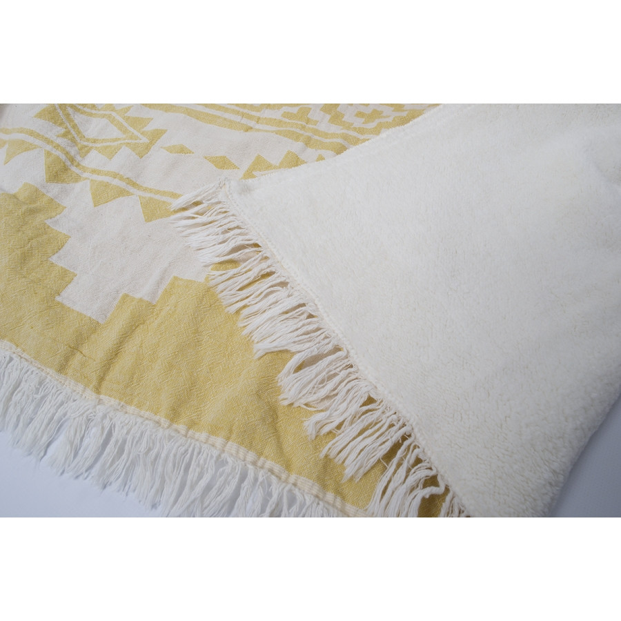 Плед микроплюш Barine - Rug Throw saffron 130*170