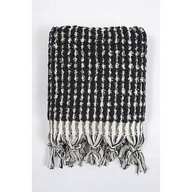 Рушник Barine - Curly Bath Towel ecru-black кремово-чорний 90*170