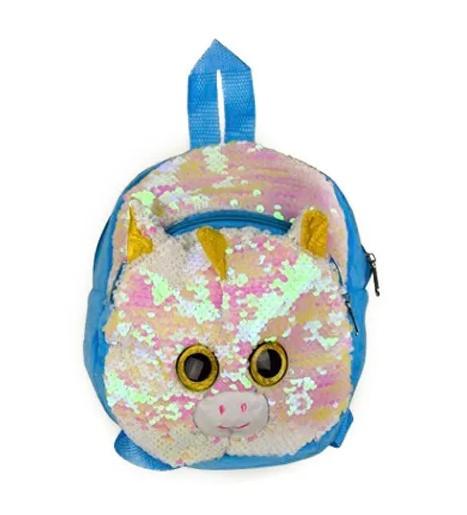 Детский рюкзак с пайетками Единорог BG0661 Розово-голубой