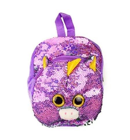 Дитячий рюкзак з паєтками Єдиноріг BG0661 Фіолетовий