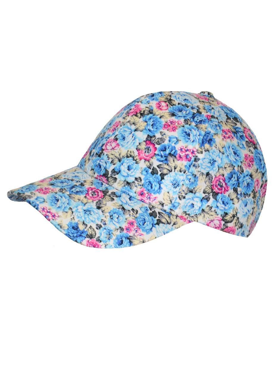 Кепка літня для дівчинки з квітковим принтом