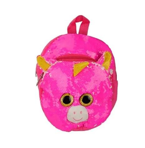 Детский рюкзак с пайетками Единорог BG0661 Темно-розовый