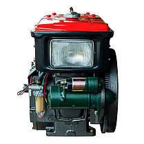 Двигатель Кентавр ДД190ВЭ (10.5 л.с.) дизельный с водяным охлаждением мотоблочный с электростартером, фото 3