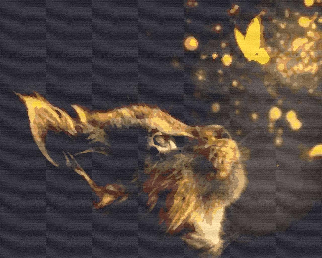 Картини по номерах тварини коти 40х50 Сяйво
