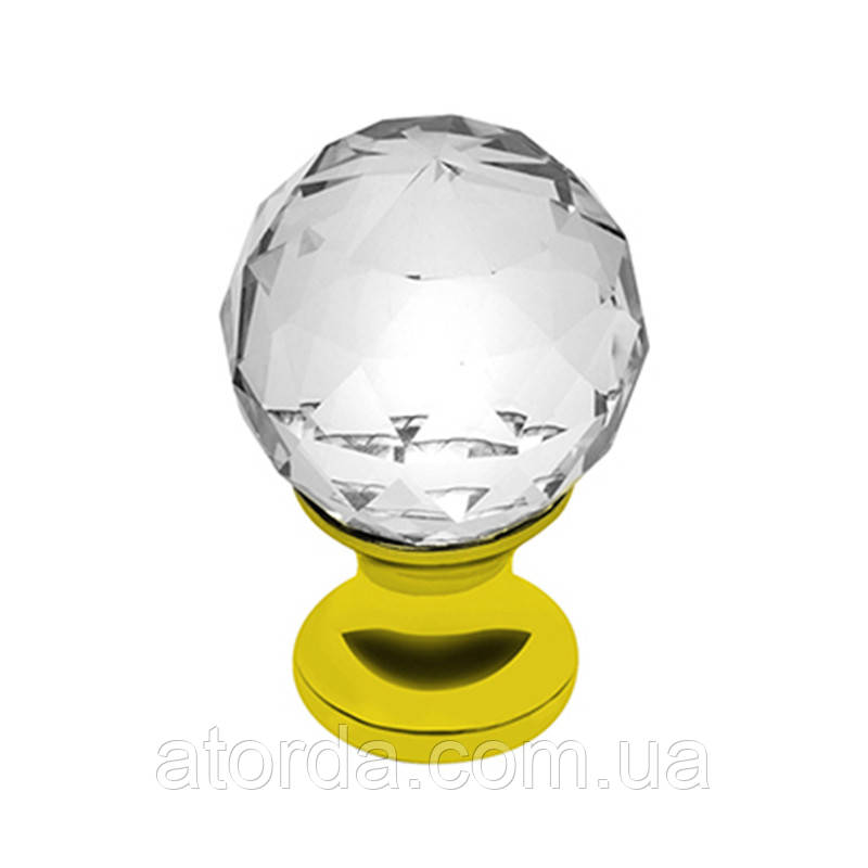 Ручка мебельная GTV Crystal Palace D=40 мм Золото/Кристалл (GZ- CRPA40-03)