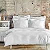 Постельное белье Karaca Home сатин - Charm bold beyaz белый полуторный, фото 2