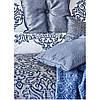 Набор постельное белье с покрывалом + плед Karaca Home - Camilla indigo 2020-2 индиго евро(13), фото 2
