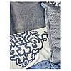 Набор постельное белье с покрывалом + плед Karaca Home - Camilla indigo 2020-2 индиго евро(13), фото 3