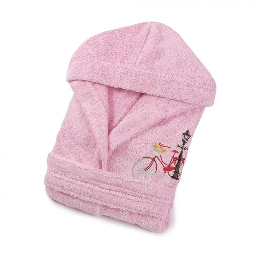 Халат детский Lotus - Bicycle 3-4 года розовый