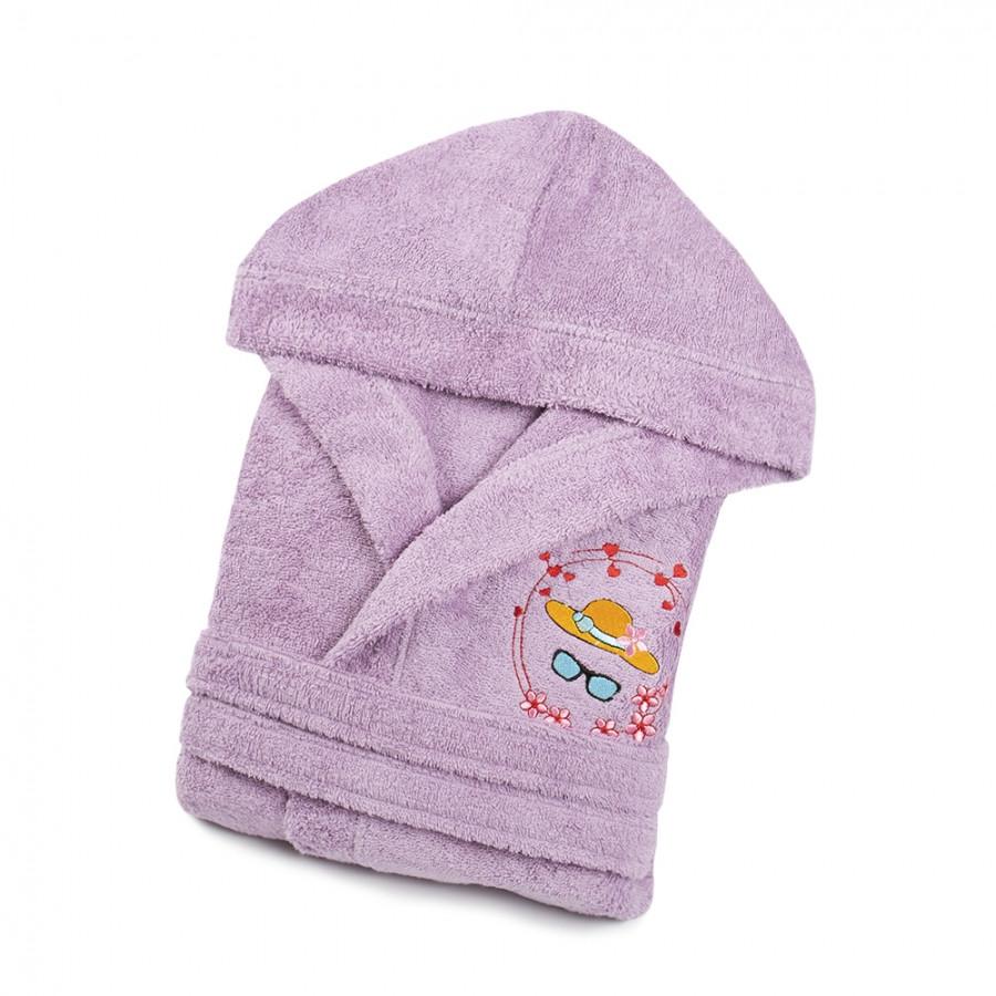 Халат дитячий Lotus - Hat 7-8 років бузковий