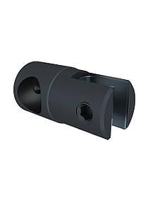 ODF-09-17-21 Крепление душевой штанги  16 мм для стекла накидное, регулируемое, глухое, стеклодержатель черный