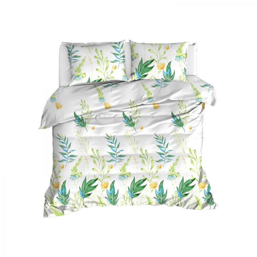 Постільна білизна Enlora Home - Arta yesil зелений ранфорс євро