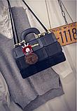 Сумочка жіноча чорна Mei&Ge, фото 3