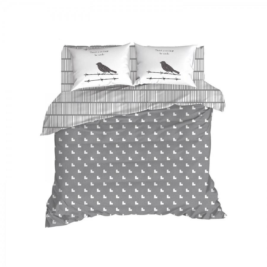 Постельное белье Enlora Home - Vektor gri серый ранфорс евро